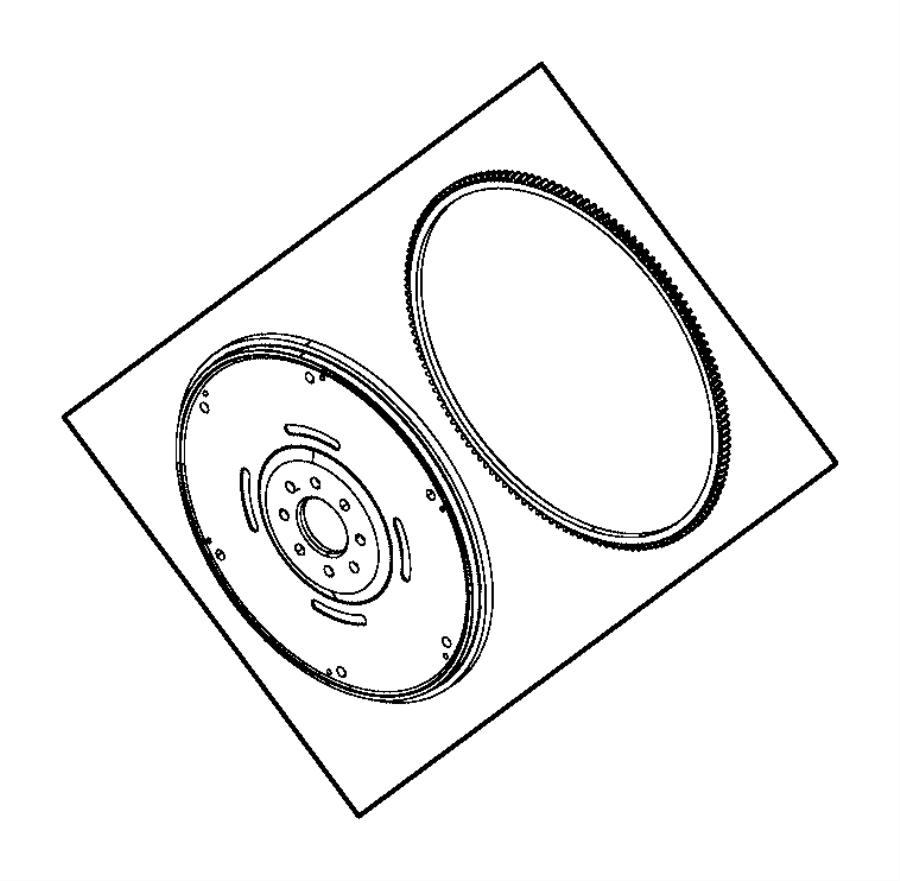 Dodge Viper Flywheel. Crankshaft, damper, bearings