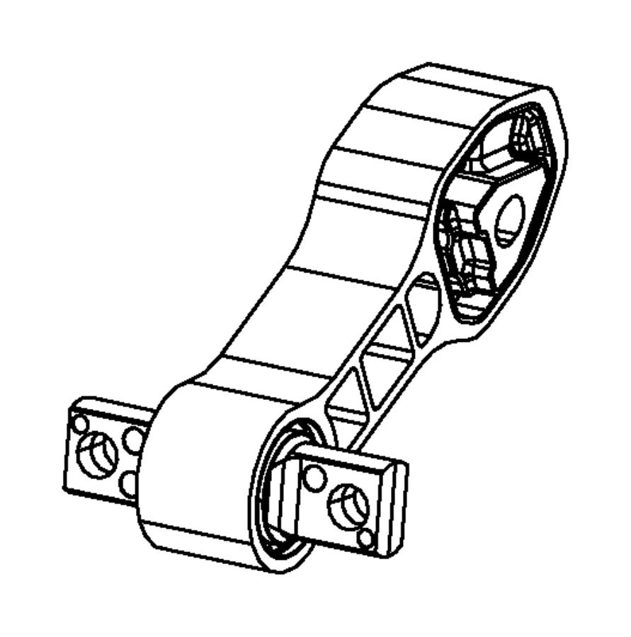 Fiat 500 Isolator. Engine. Torque strut. [6-spd aisin f21