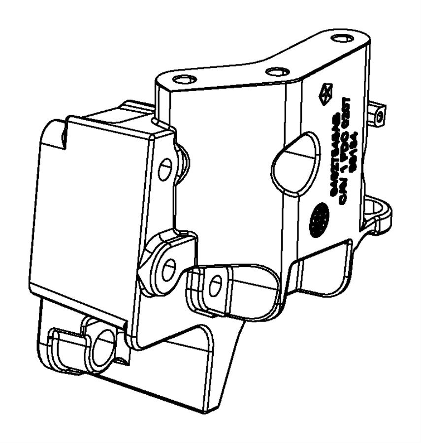 Fiat 500 Bracket. Engine mount. Right side. [5-spd c510