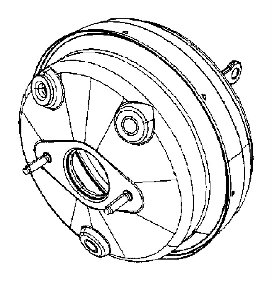 2013 Jeep Wrangler Booster. Power brake. Brakes, wheel