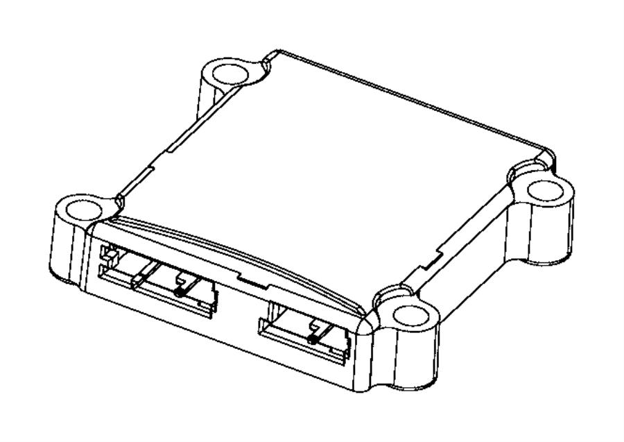 Jeep Wrangler Sensor. Intrusion module. [instrument panel