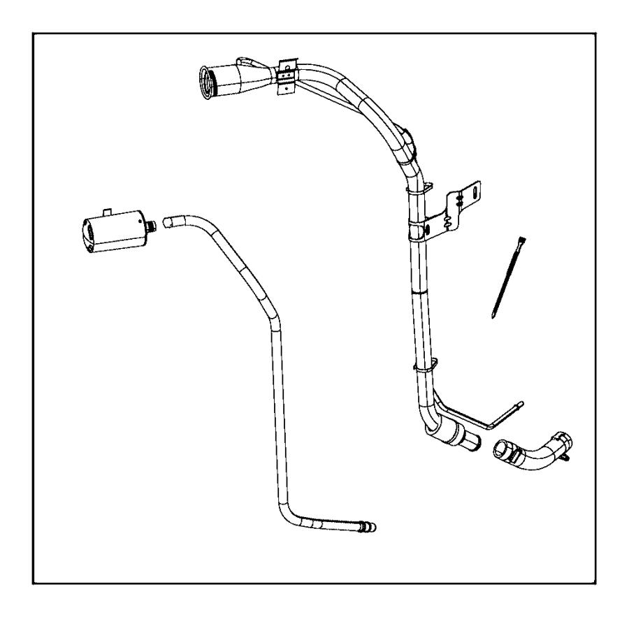 2015 Jeep Wrangler Tube. Fuel filler. [3.0l v6 24v vvt