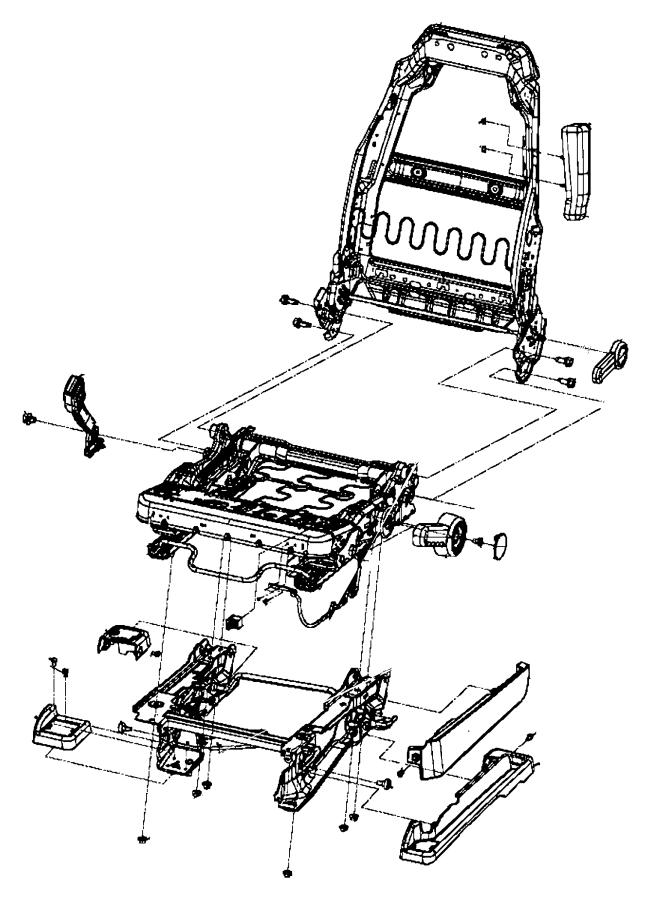 Jeep Wrangler Frame. Front seat cushion. Trim: [cloth lo