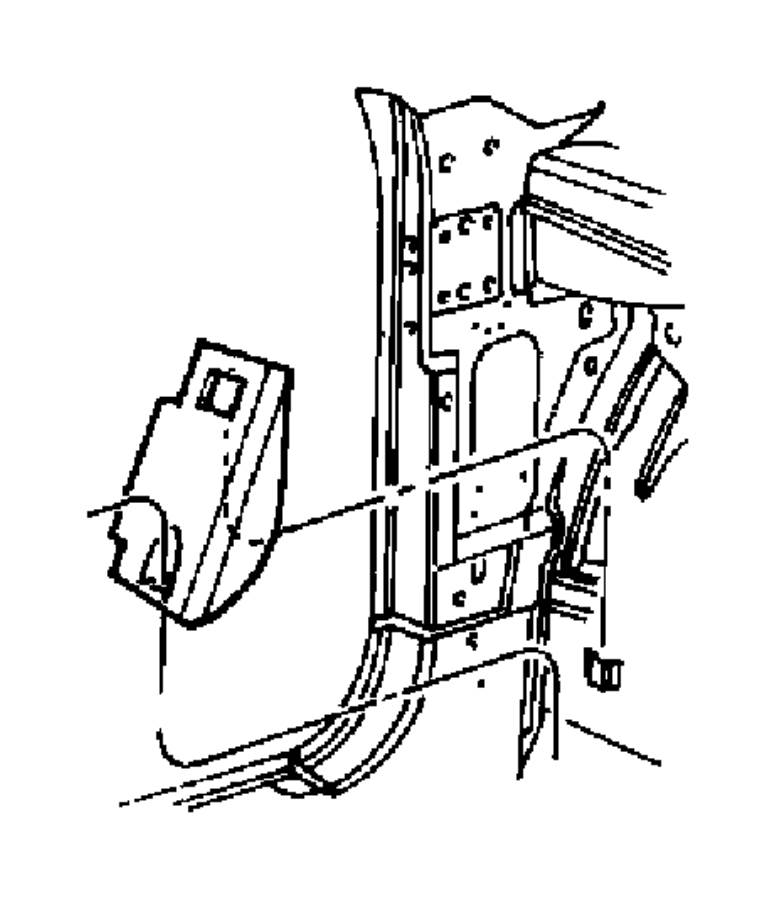 2014 Chrysler 300 Footrest, support. Frt, axle, case