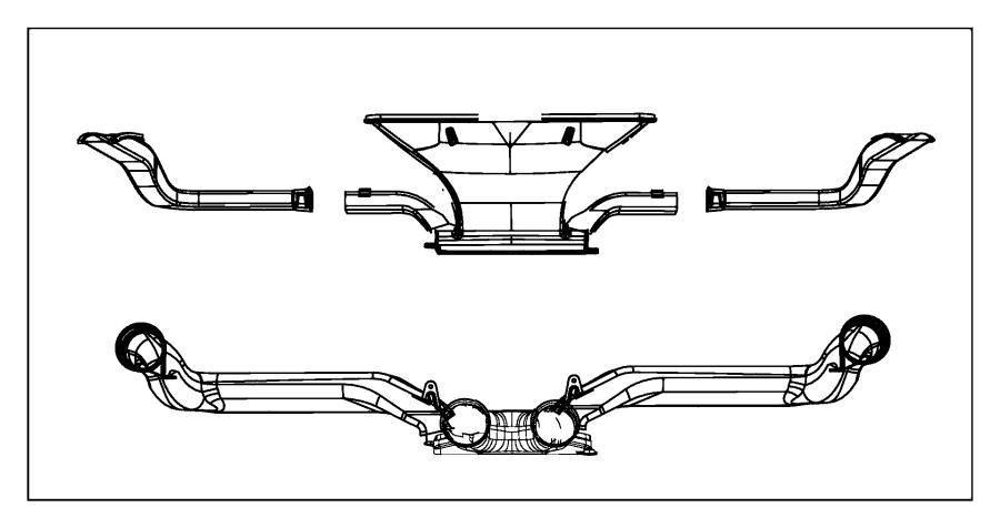 Jeep Wrangler Duct. Demister. Left. Module, instrument