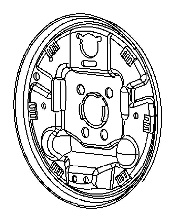 2010 Dodge Caliber Plug. Brake adjusting hole. Left, right