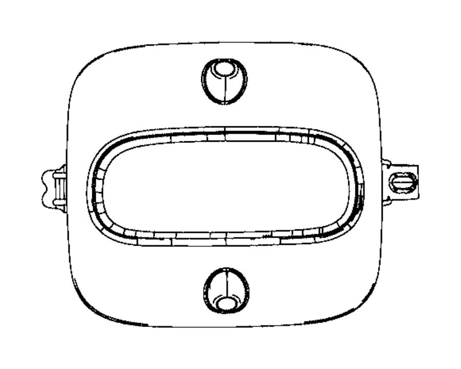 2017 Jeep Compass Sensor. Intrusion module. Export. Trim