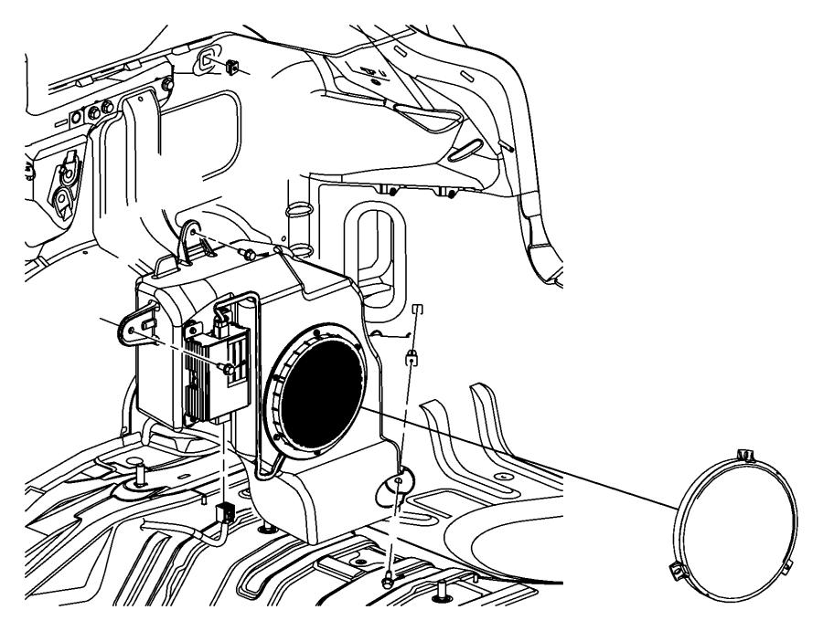 2010 Jeep Compass Speaker. Sub woofer. [6 premium speakers