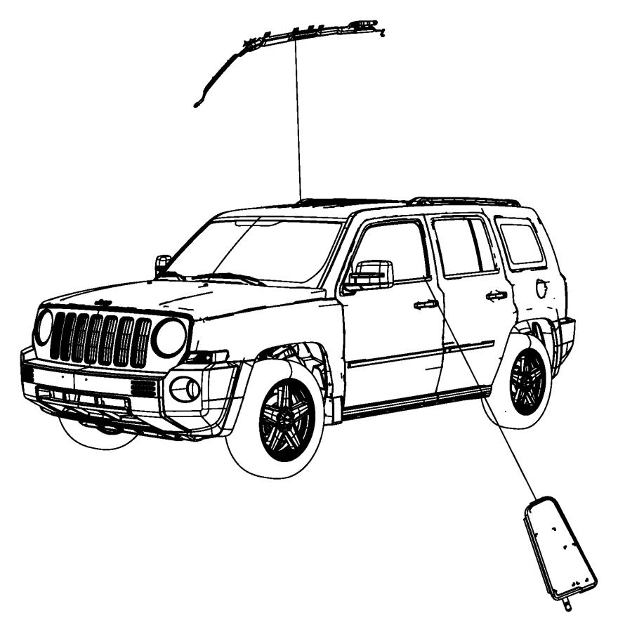 Jeep Patriot Air bag. Seat. Left, right. Canada, export