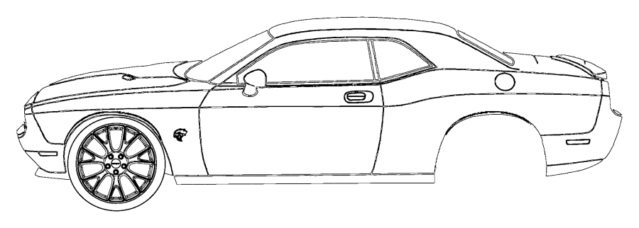 2016 Dodge Challenger Decal. Hood. [dual carbon stripes