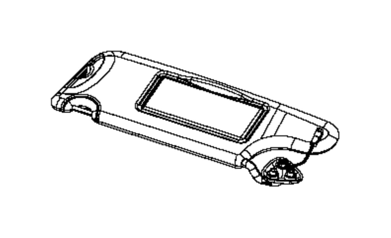2017 Dodge Challenger Visor. Illuminated. Export, left