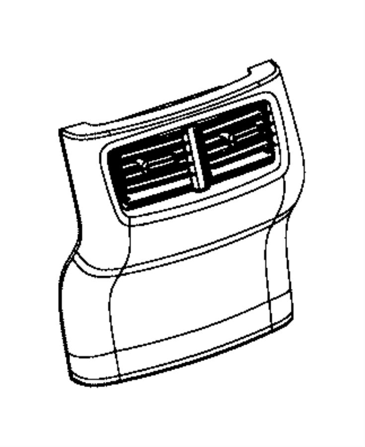 Dodge Challenger Cap. Floor console end. Trim: [no