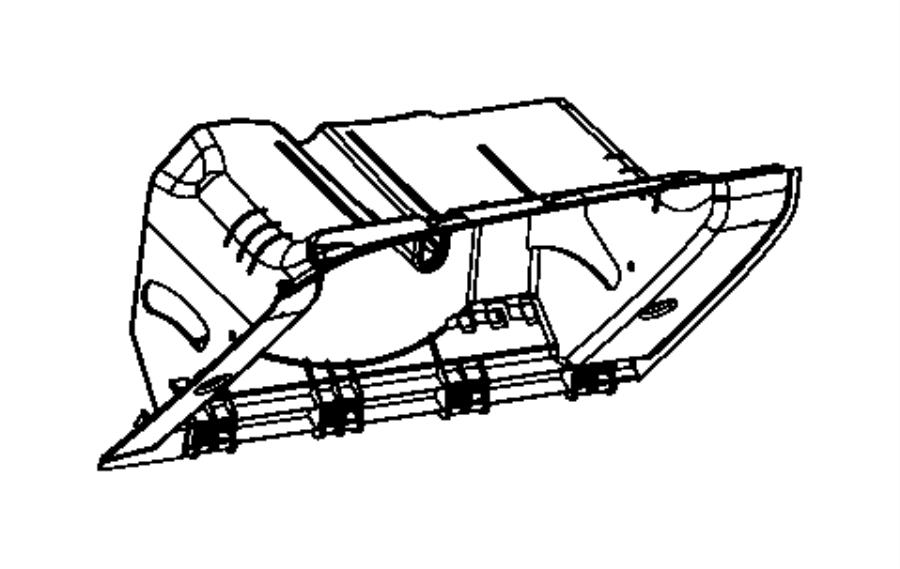 Dodge Challenger Glove box. Instrument panel. Trim: [all