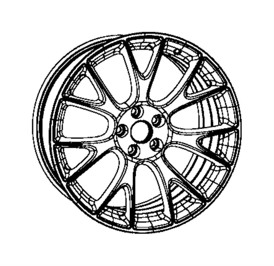 2017 Dodge Challenger Wheel. Aluminum. Front or rear
