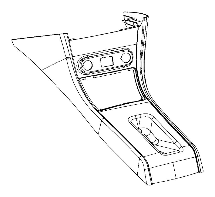Dodge Charger Console. Floor. [black], [black], [mini