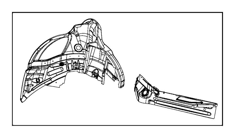 2016 Dodge Charger Reinforcement. Body side aperture rear