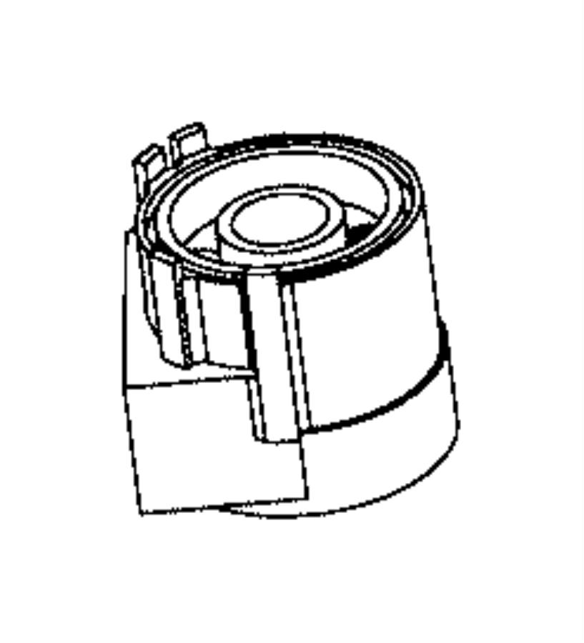 2017 Dodge Challenger Adapter. Engine oil filter. Includes