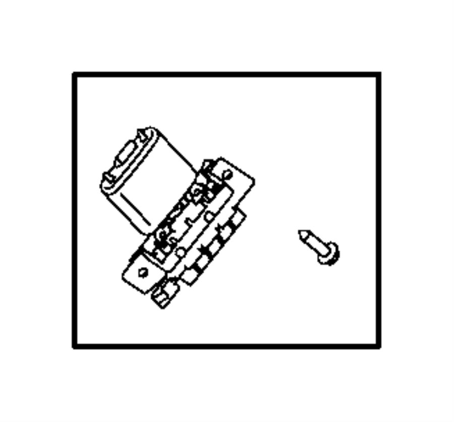 2017 Ram PROMASTER CITY WAGON SLT Resistor. Blower motor