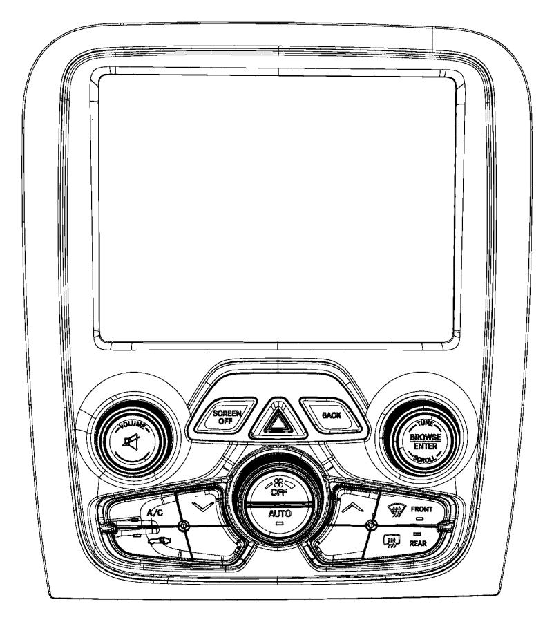 Dodge Viper Center stack. Upper. Export. Panel, instrument