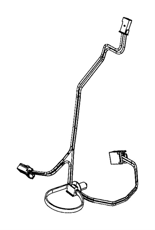 Chrysler 200 Harness. Wiring. Glove box lamp. Trim: [no