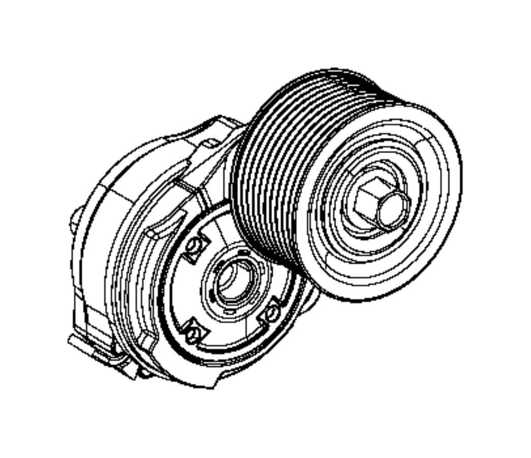 Dodge Challenger Tensioner Supercharger Drive Belt