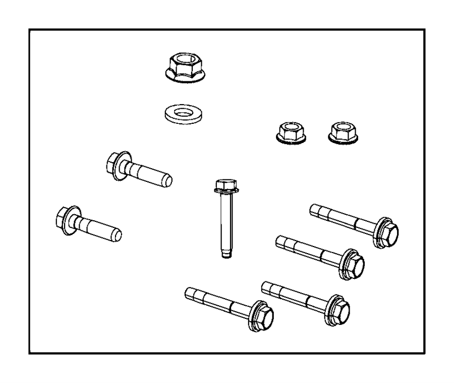 2016 Ram 2500 Fastener kit. Engine, left, side
