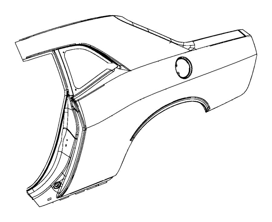 2013 Dodge Challenger Panel. Body side aperture rear. Left