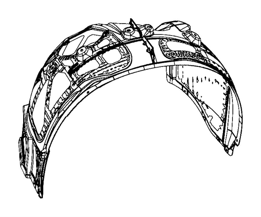 2015 Dodge Charger Shield. Splash. Front, fenders