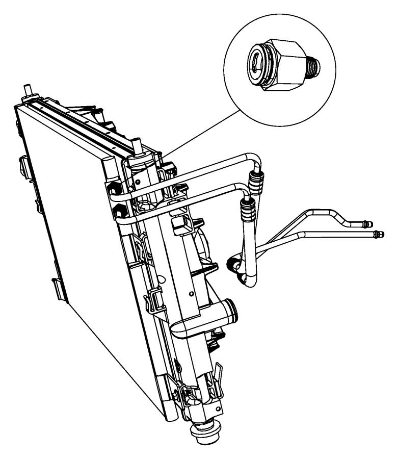 2014 Chrysler 200 Hose. Transmission oil cooler. Used for