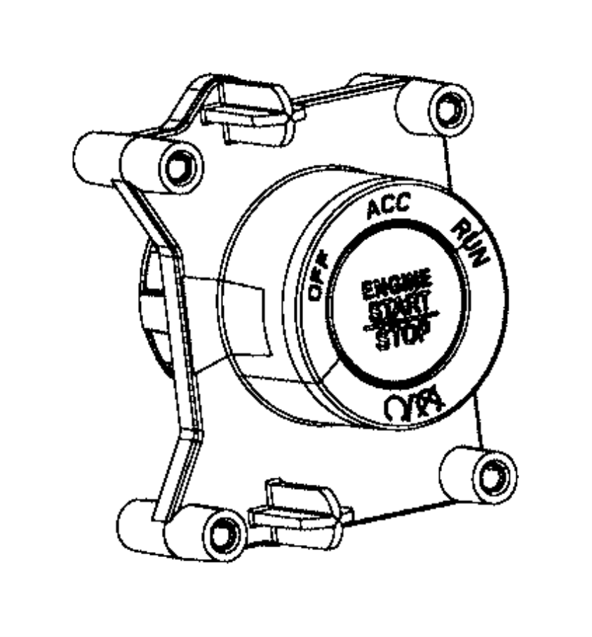 2017 Ram 4500 Switch. Ignition. Push button. [x81], [gx4