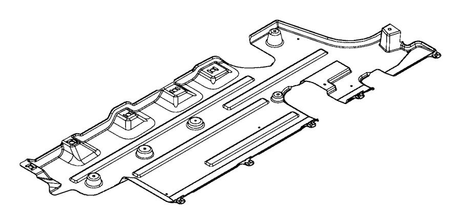 2015 Jeep Renegade Shield. Floor pan. Export, left, right