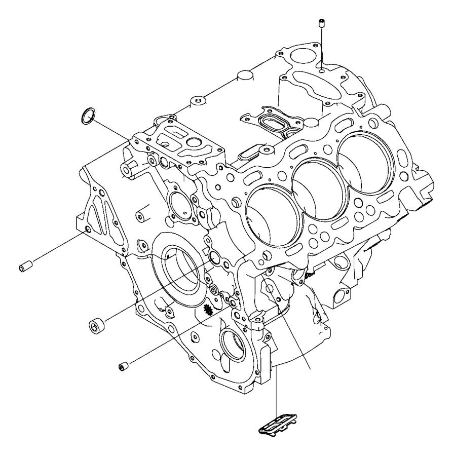 2016 Dodge Ram 2500 Gasket. Drain plug. Heater, engine
