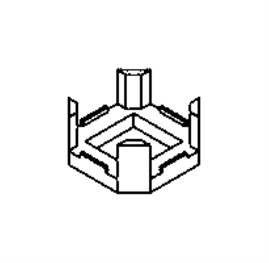 Ram ProMaster City Clip, insert. Battery harness. Export