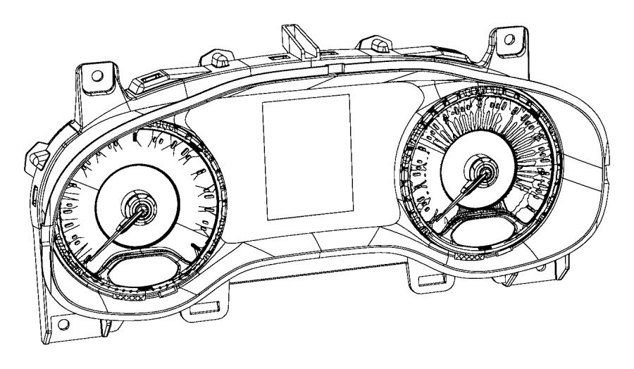 2016 Jeep Renegade Cluster. Instrument panel. Trim: [no