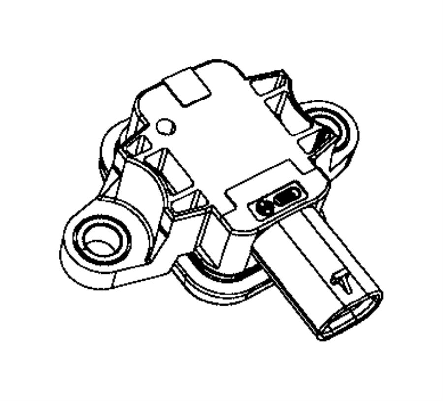 Jeep Renegade Sensor. Air bag. B pillar, export, front