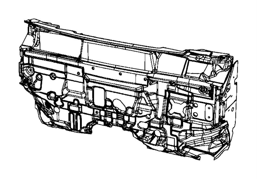2013 Jeep Compass Silencer. Dash panel. [2.0l i4 dohc