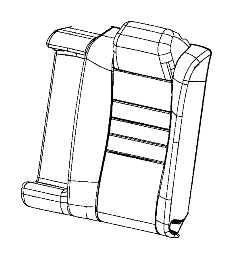 Chrysler 300 Cover. Rear seat back. Trim: [ventilated