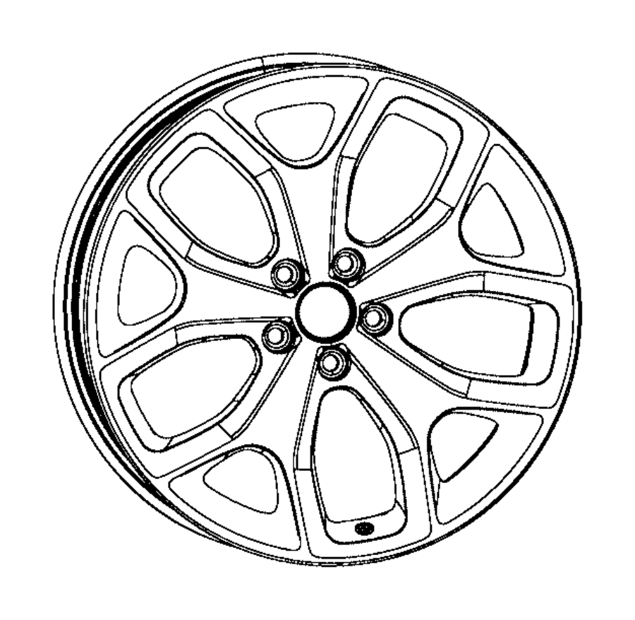 2016 Dodge Charger Wheel. Aluminum. Front or rear. [tire