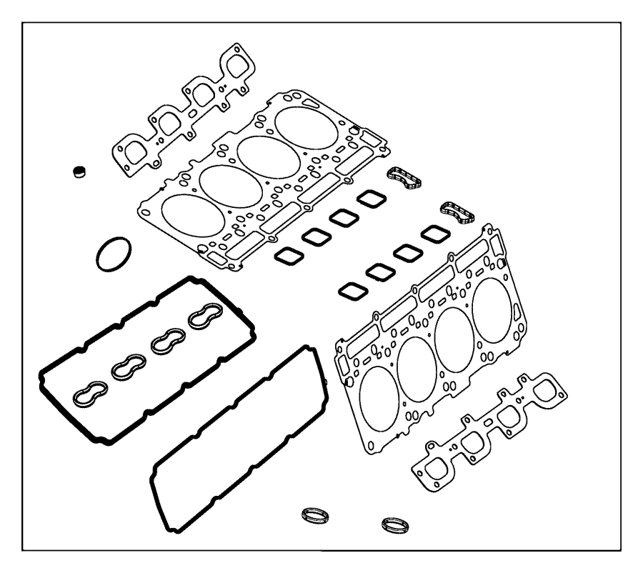 Dodge Grand Caravan Gasket kit. Long block engine