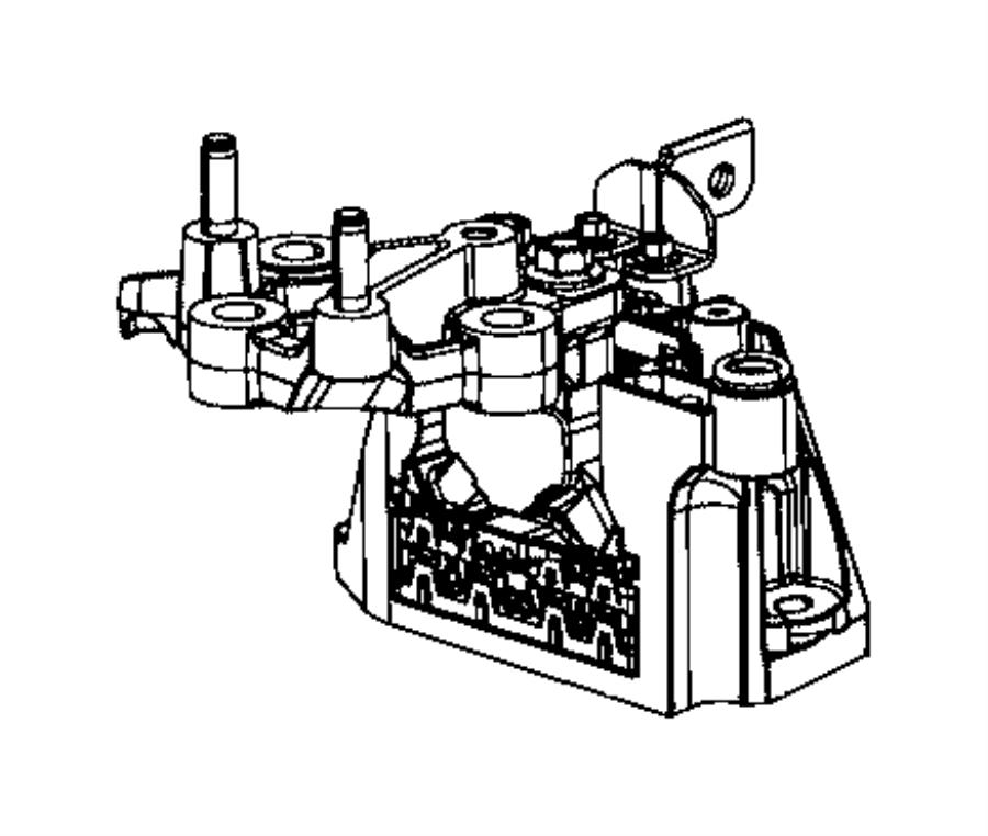 2017 Chrysler Pacifica Isolator. Transmission mount. [phev