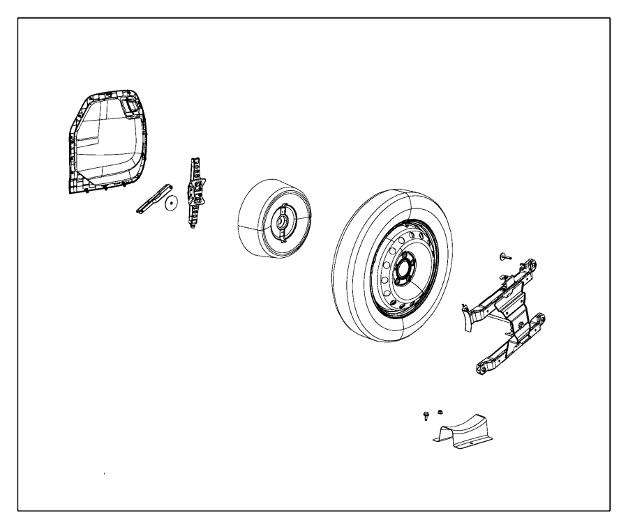 Chrysler Voyager Used for: TIRE AND WHEEL ASSY. Collapsed
