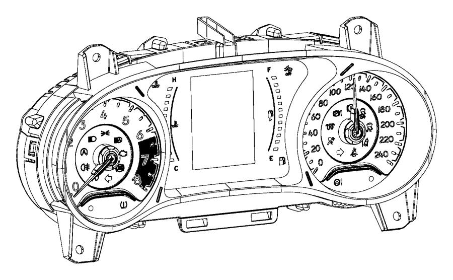 Jeep Compass Cluster. Instrument panel. Trim: [no