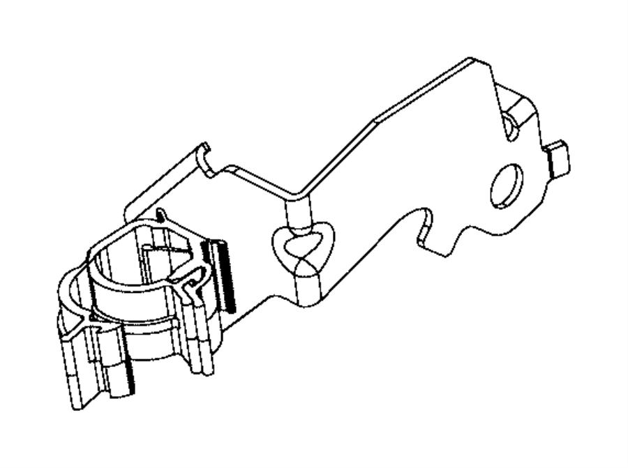 Jeep Renegade Bracket. Wiring. [power train parts module