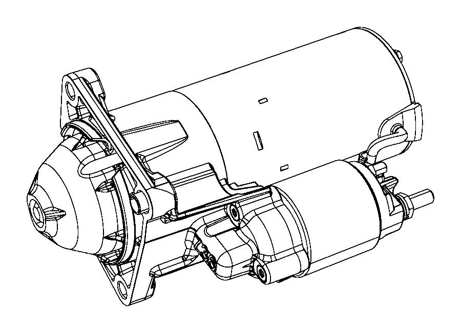 Jeep Renegade Starter. Engine. Export. Maintenance