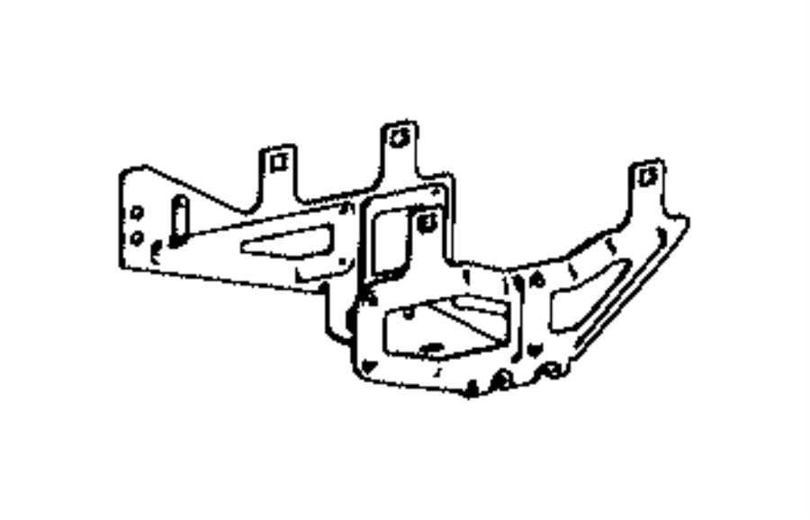 2015 Dodge Journey Bracket. Power module. Front, fender