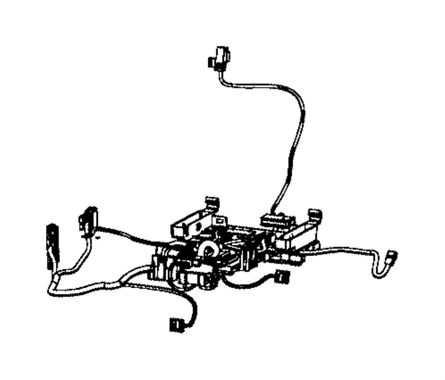 Dodge Challenger Wiring. Seat cushion. Passenger. Trim