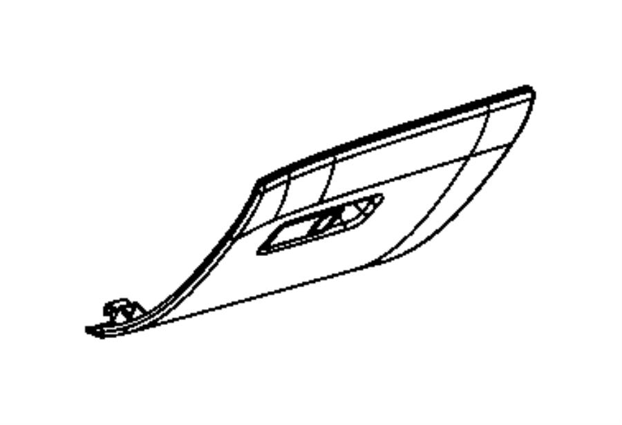 Jeep Compass Door. Glove box. [black/ski grey]. Trim: [no