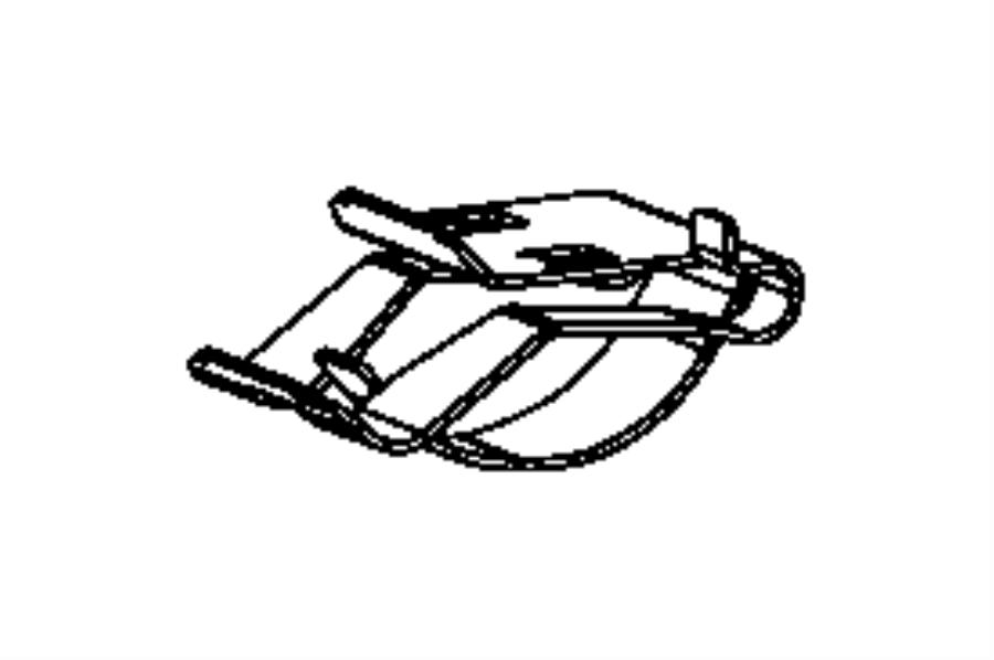 Chrysler Pacifica Screw. Hex flange head. Export. Trim