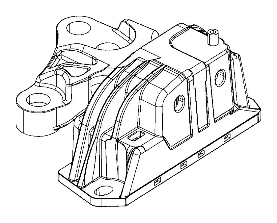Jeep Compass Isolator. Engine mount, transmission mount