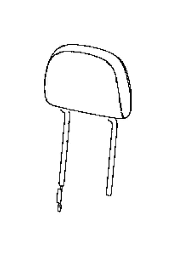 Jeep Compass Headrest. Front. [black/ski grey]. Trim